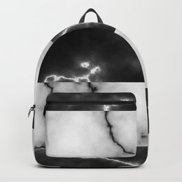 Black and white marble texture 10 Backpack