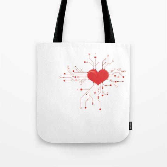 My Tech Heart Tote Bag