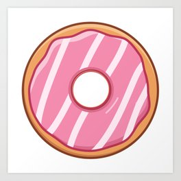 Heavenly Strawberry Doughnut / Donut Art Print