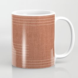 Minimal, Pattern, Boho Prints, Terracotta Coffee Mug