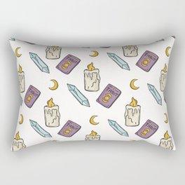 Seamless Vector Pattern, Spiritual Symbols and Well Being Concept Rectangular Pillow
