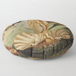 The Birth of Venus by Sandro Botticelli Floor Pillow