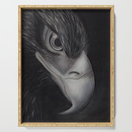 'GAZE' - Wedge Tail Eagle, original artwork in Charcoal & Pastel Serving Tray