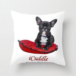iCuddle French Bulldog Throw Pillow