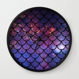 Galaxy Fish Scales Pattern Wall Clock