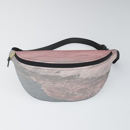 Pink Waves Beach Fanny Pack