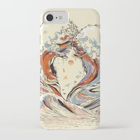 purple iPhone & iPod Cases featuring The Wave of Love by Huebucket