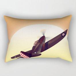 Vintage fighter plane Rectangular Pillow