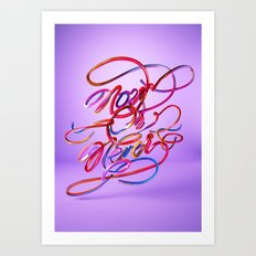 Now Or Never // Typography Art Print