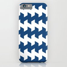 jaggered and staggered in monaco blue iPhone 6s Slim Case