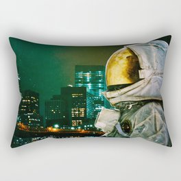 Between The Moon And The City Rectangular Pillow