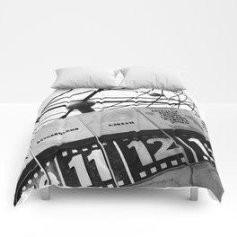 World Clock Berlin BW Comforters