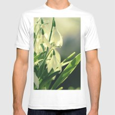 Snowdrops impression from the garden Mens Fitted Tee MEDIUM White