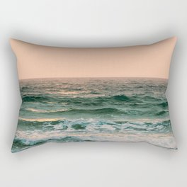 Pink Skies Ocean Vibes Rectangular Pillow