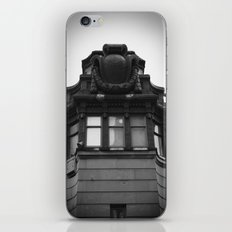 Black and White Top of Chicago River Boat House Photography iPhone & iPod Skin