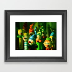 Happy crayons  Framed Art Print