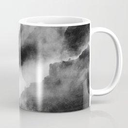 Foggy Mountains Black and White Coffee Mug