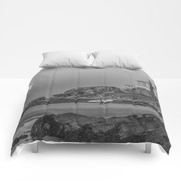 Surf's Over B&W Comforters