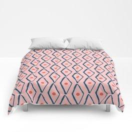 Pink Navy Diamond pattern Comforters