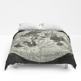 Vintage Moon Map Comforters