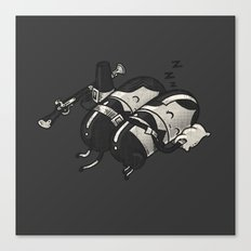 Sleeping Pillgrims Canvas Print