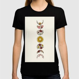Floral Phases of the Moon T-shirt