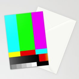 SMPTE Television TV Color Bars Stationery Cards