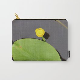 Yellow waterlily with lily pad Carry-All Pouch