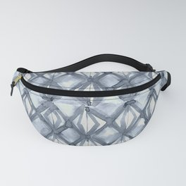 Braided Diamond Indigo Blue on Lunar Gray Fanny Pack