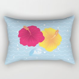Hibiscus and Thunderhead reflected on the wave_YR Rectangular Pillow