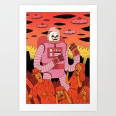 Alien Invader  Art Print