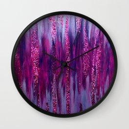 Raining Glitter Wall Clock