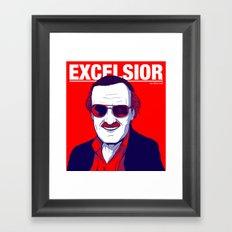 Stan Lee / Excelsior Framed Art Print