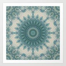 Woven Palm Mandala Art Print