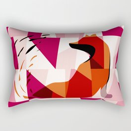 Fox Geometric Pattern Rectangular Pillow