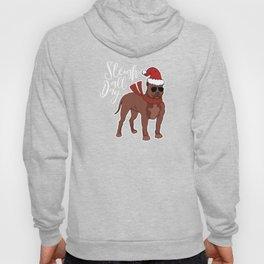 Sleigh All Day Pitbull Dog Funny Christmas Hoody