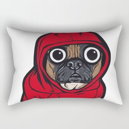 French Bulldog Red Hoodie Rectangular Pillow