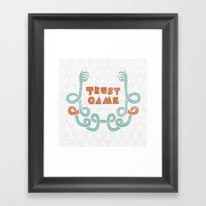 Trust Game. Framed Art Print
