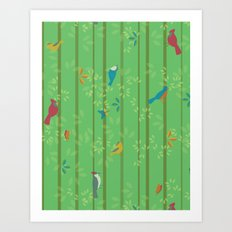 Hello Birdies Art Print