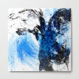 Static Blue Metal Print
