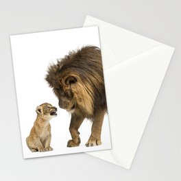 Dad and son Stationery Cards