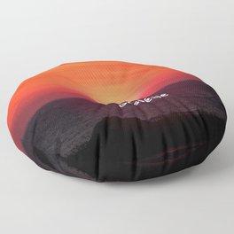 Sunrise in Gaspésie Floor Pillow