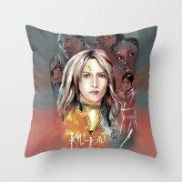 bill Throw Pillows featuring Kill Bill by RJ Artworks