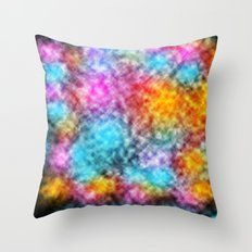 Explosion of Colors in space Throw Pillow