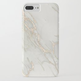 Marble Love Bronze Metallic iPhone Case