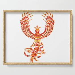 Mythical Phoenix Bird Serving Tray