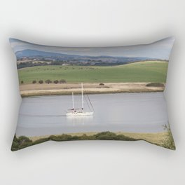 Motoring up River Rectangular Pillow