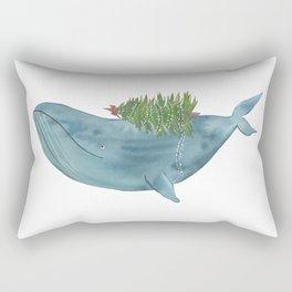 Christmas whale Rectangular Pillow