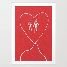 Love Space, Red Art Print