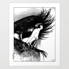 asc 602 - La spectatrice (Valentina at the gallery) Art Print